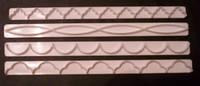 Набор кондитерских вырубок для края из 4-х шт.