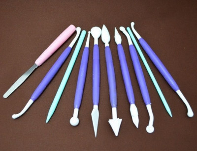 Инструменты для мастики из 10 шт с колесиком