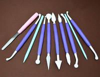 Инструменты для мастики из 10 шт. с колесиком
