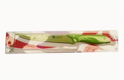 Нож зелёный антибактериальный узкий средний №3