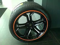 Защита литых дисков оранжевого цвета R13-R14