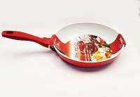 Сковорода керамика 24см красная