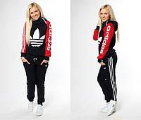 Костюм спортивный женский с накатом Adidas P793, фото 1