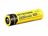 Аккумулятор литиевый Li-Ion 18650 Nitecore NL186 3.7V (2600mAh), защищенный