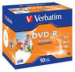 Диск Verbatim Printable DVD - R 4.7Gb Jewel 16