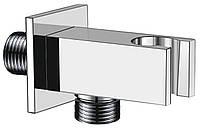Подключение для душевого шланга  с держателем квадрат  Kern 0213