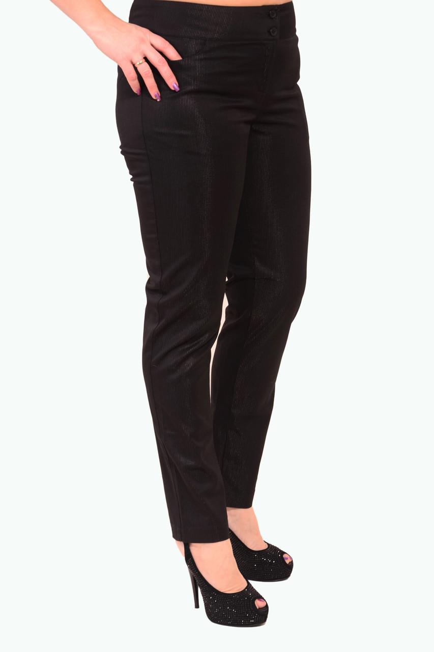 Брюки дудочки черные нарядные большие размеры 48-54 , бр 001-9