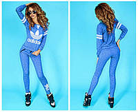 Костюм спортивный женский с принтом Adidas P796, фото 1