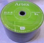 "Диски Artex двухслой DVD + R 8,5GB ""50"" 8x"