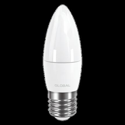 LED лампа GLOBAL C37 CL-F 5W мягкий свет 220V E27 AP (1-GBL-131) (NEW), фото 2