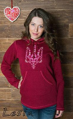 Жіночий светр-худі Тризуб-вишиванка