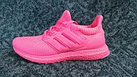 Женские беговые кроссовки Adidas Ultra Boost малиново розовые Размеры 36-40 Китай
