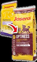 Optiness сухой корм в больших гранулах с пониженным уровнем белка для взрослых собак