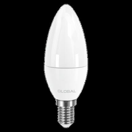 LED лампа GLOBAL C37 CL-F 5W яркий свет 220V E14 AP (1-GBL-134) (NEW), фото 2