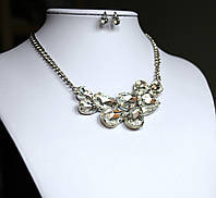 Комплект украшений Колье и серьги Эмилия кристальное , набор бижутерии