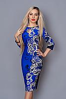 Платье женское Загадка электрик