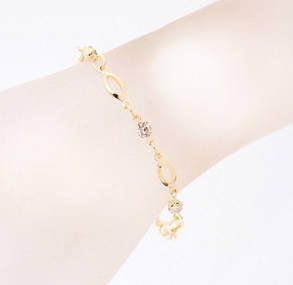 Браслет Gold Plated Crystal, фото 2