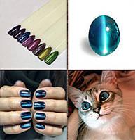 Потрясающая новинка ногтевой индустрии - топ с эффектом кошачий глаз  ТМ Sharlyn