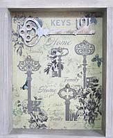 Ключница из дерева на 4 ключа