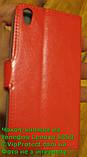 Lenovo S850 червоний чохол-книжка на телефон, фото 2