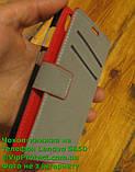 Lenovo S850 червоний чохол-книжка на телефон, фото 5