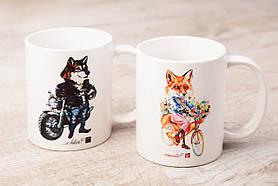 Чашки BEU с притном Лиса & Волк