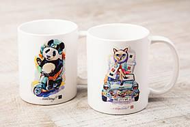 Чашки BEU с притном Кошка & Панда