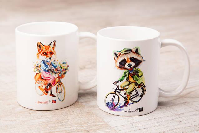 Чашки BEU с притном Лиса & Енот