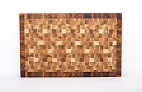 Кухонная торцевая разделочная доска 42х33х4 см, фото 1