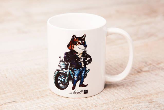Чашка BEU с притном Волк. # Just be yourself! (... biker?)