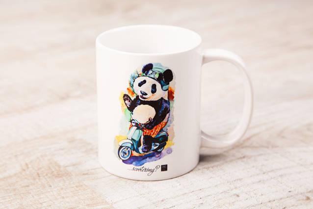 Чашка BEU с притном Панда. # Just be yourself! (...scootering?)