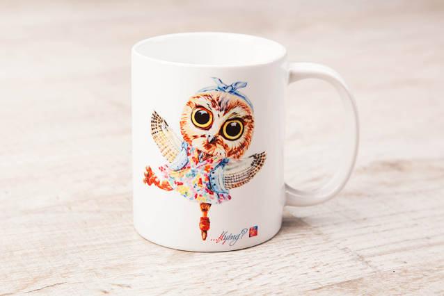 Чашка BEU с притном Сова. # Just be yourself! (... flying?)