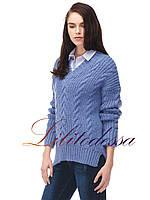 Пуловер женский крупной вязки, фото 1