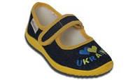 Туфли текстильные на застежке «велькро» с вышивкой