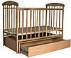 Дитяче ліжечко Наталка з маятником і ящиком