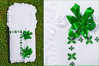 """Конверт с вышивкой ручной работы для мальчика """"Ялівець зелений"""", фото 1"""