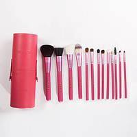 Профессиональный набор кистей для макияжа 13 шт - Make Up Me TUBE-13-1 Розовый - TUBE-13-1