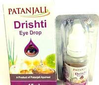 Глазные капли Дришти Патанджали, противоспалительные, с лимоном, медом и имбирем, Drishti Patanjali, 15мл.