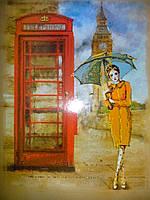 Набор для вышивания бисером Лондонский дождь, 30х40см. (ВБ 1033)