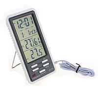 Метеостанция, Термометр, гигрометр, часы, будильник DC-802 (KT 802)