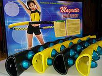 Магнитный обруч Хула Хуп Hula Hoop силиконовые насадки, 2 кг.