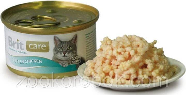 Консерва для котят Brit Care Cat Курица, 80г