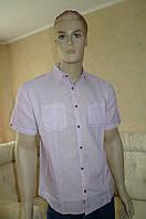 Молодежная рубашка хлопок лен, фото 1