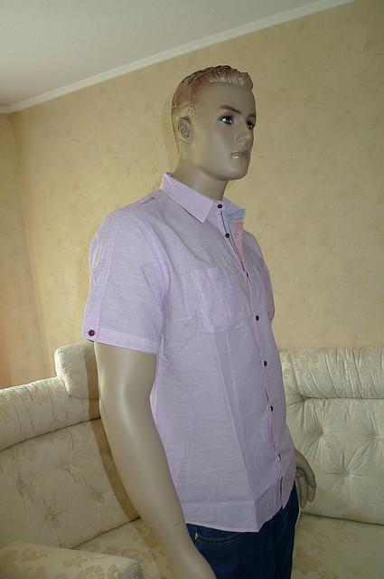 Молодежная рубашка из хлопка со льном
