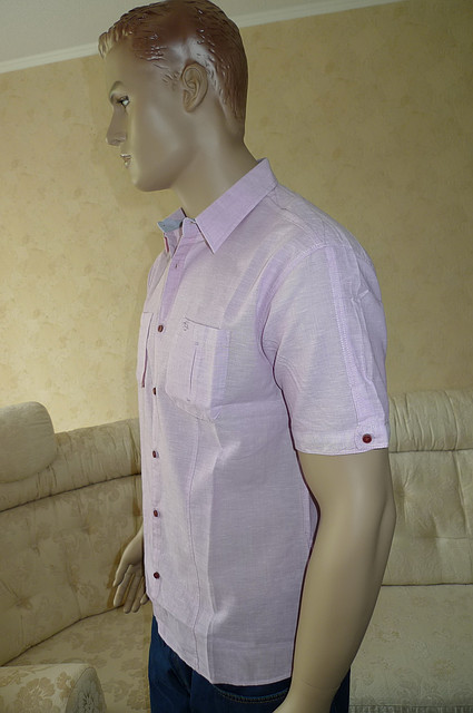 Рубашка хлопок лен