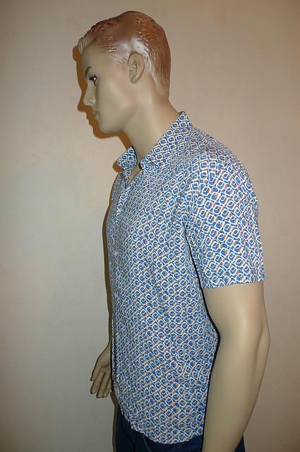 Тонкая стильная хлопковая рубашка