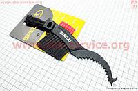 Щетка пластиковая с тремя видами щетин, зубчатая ручка SBT-790