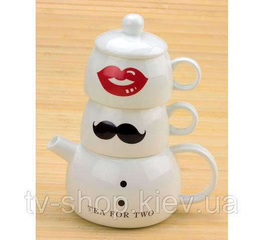 """Чашки с чайником - набор """"Tea for two"""" (Чай вдвоем)"""