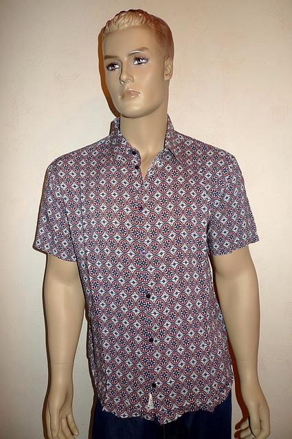 Модная летняя рубашка короткий рукав
