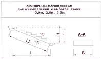 Лестничные марши плоские 1ЛМ 27.12.14-4 Л